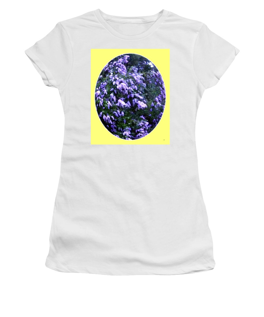Painted Lilacs Women's T-Shirt featuring the digital art Painted Lilacs by Will Borden