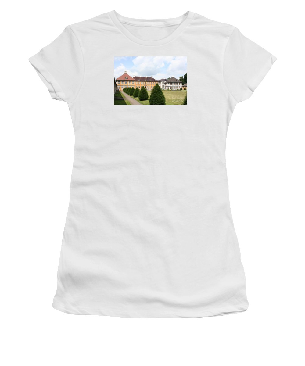 Palace Women's T-Shirt (Athletic Fit) featuring the photograph Palace Oranienbaum - Germany by Christiane Schulze Art And Photography