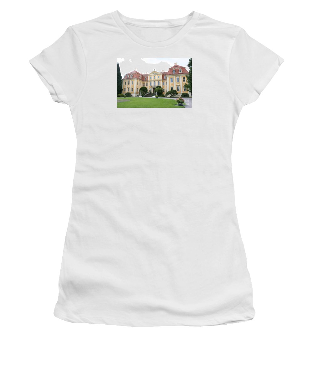 Palace Women's T-Shirt (Athletic Fit) featuring the photograph Palace Rammenau - Germany by Christiane Schulze Art And Photography