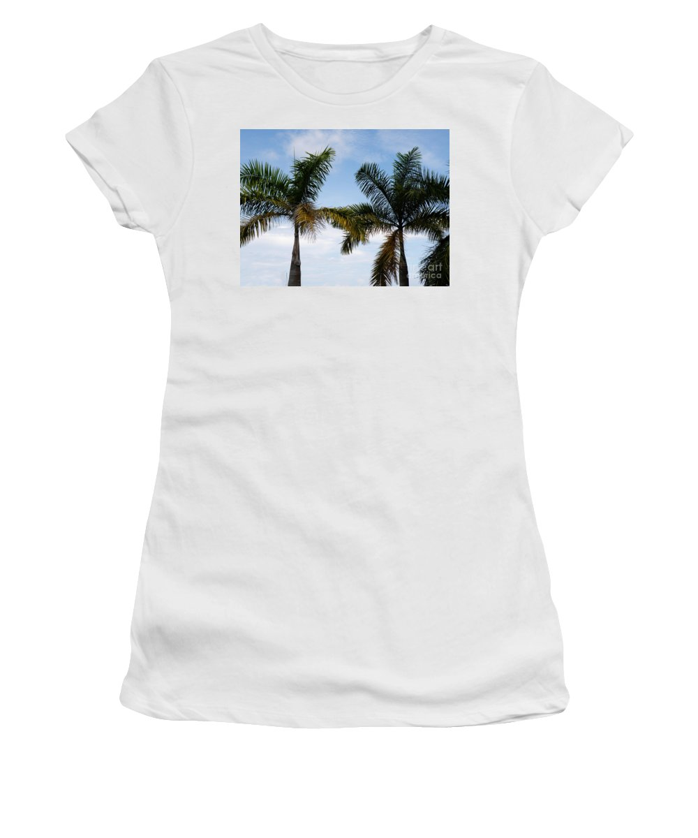 Palm Trees Women's T-Shirt featuring the photograph Palm Tree In Costa Rica by DejaVu Designs