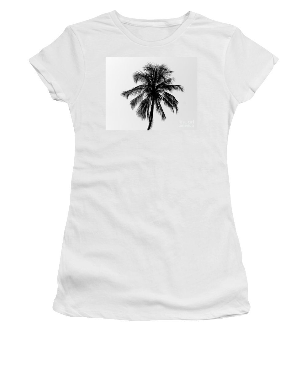 Beach Women's T-Shirt (Athletic Fit) featuring the photograph Palm Tree by Jannis Werner