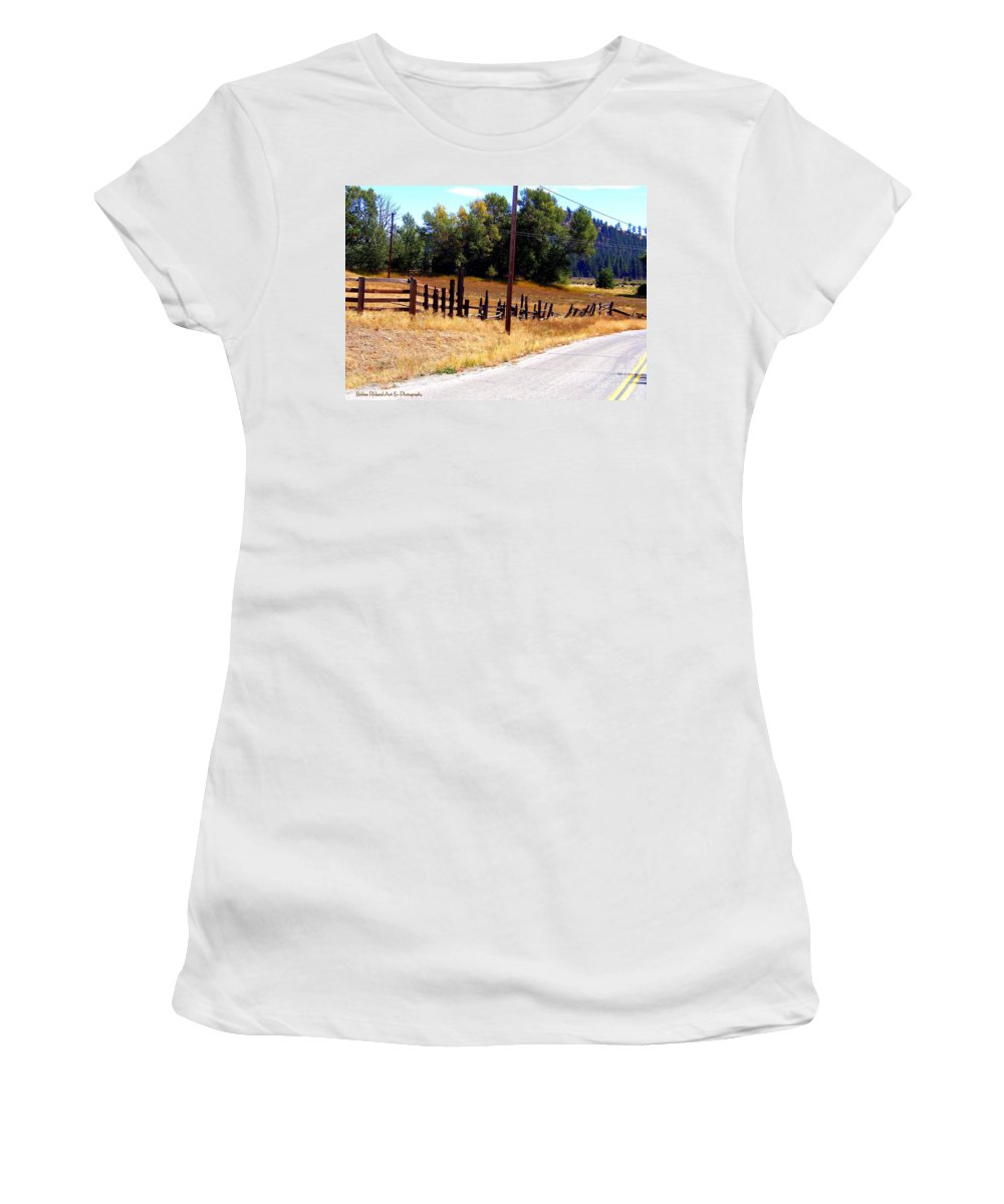 Acrylic Prints Women's T-Shirt featuring the photograph Past And Present Meet by Bobbee Rickard