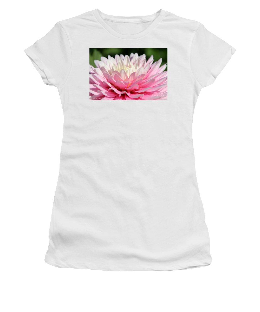 Flower Women's T-Shirt featuring the photograph Pastel Awakening by Susan Herber