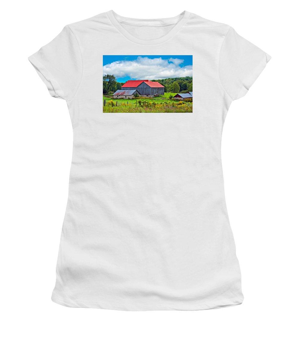 Landscape Women's T-Shirt featuring the photograph Pastoral Ontario 2 by Steve Harrington