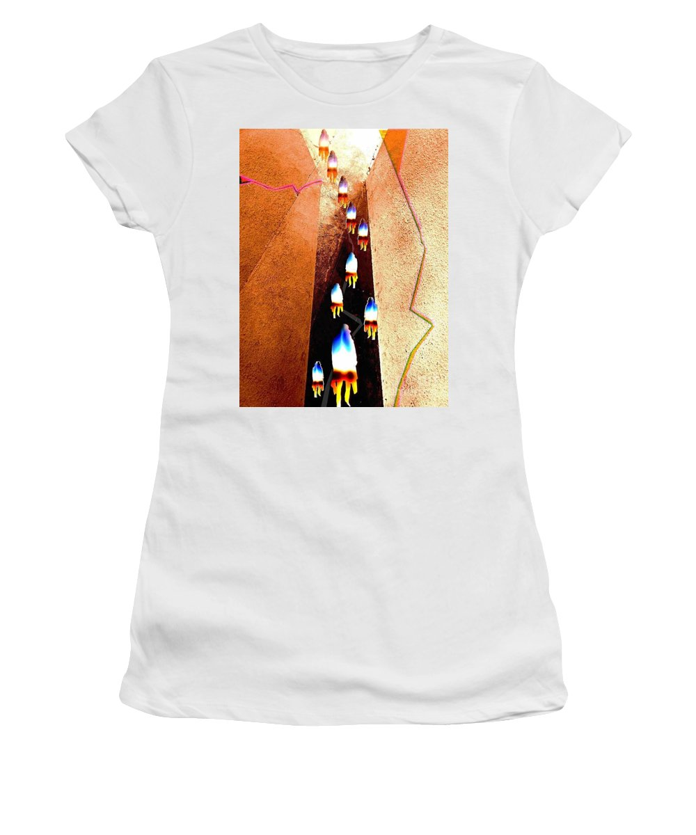 Abstract Women's T-Shirt (Athletic Fit) featuring the digital art Pathway by Fei A