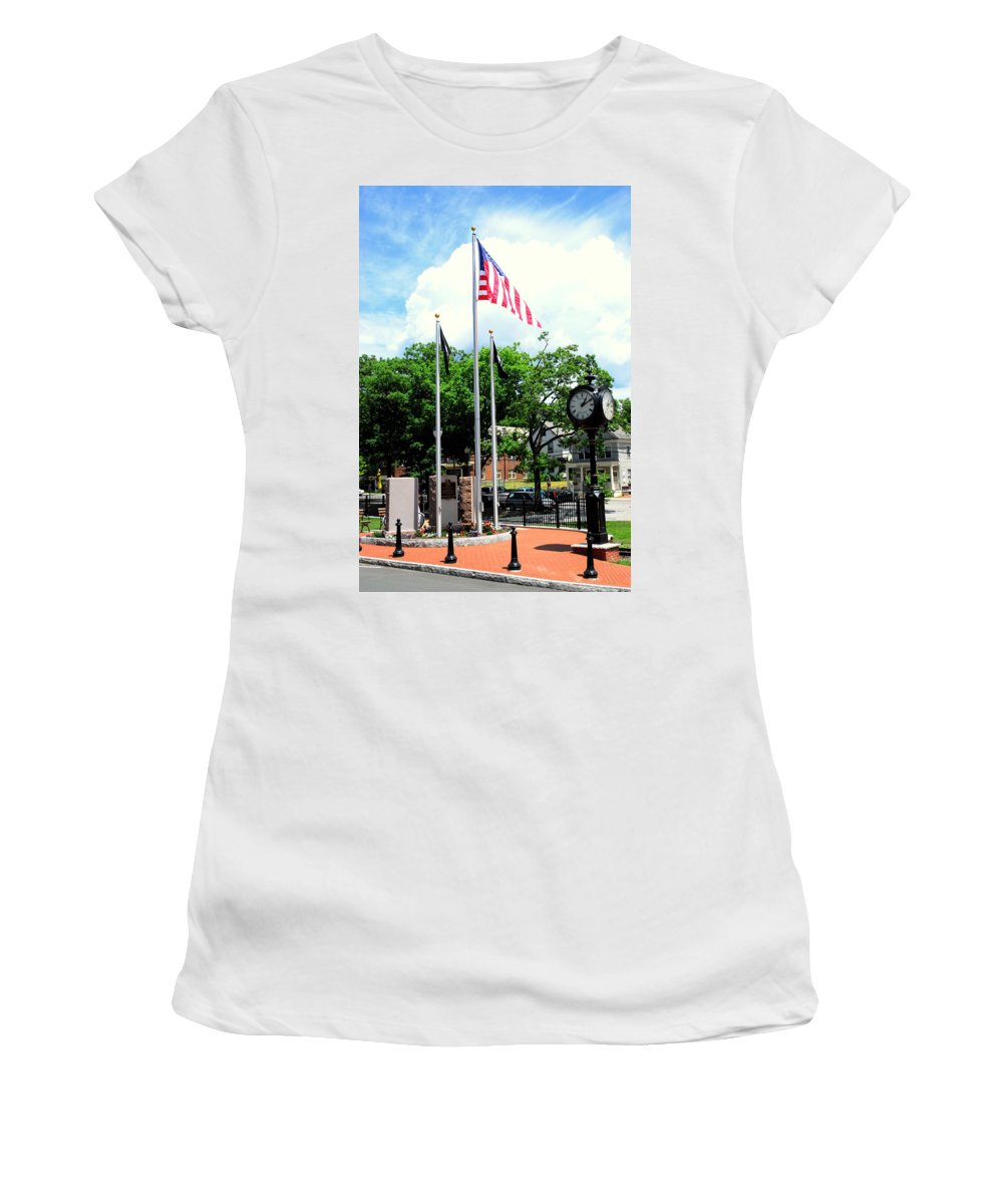 Memorial Women's T-Shirt featuring the photograph Pawling Memorial by Linda Covino
