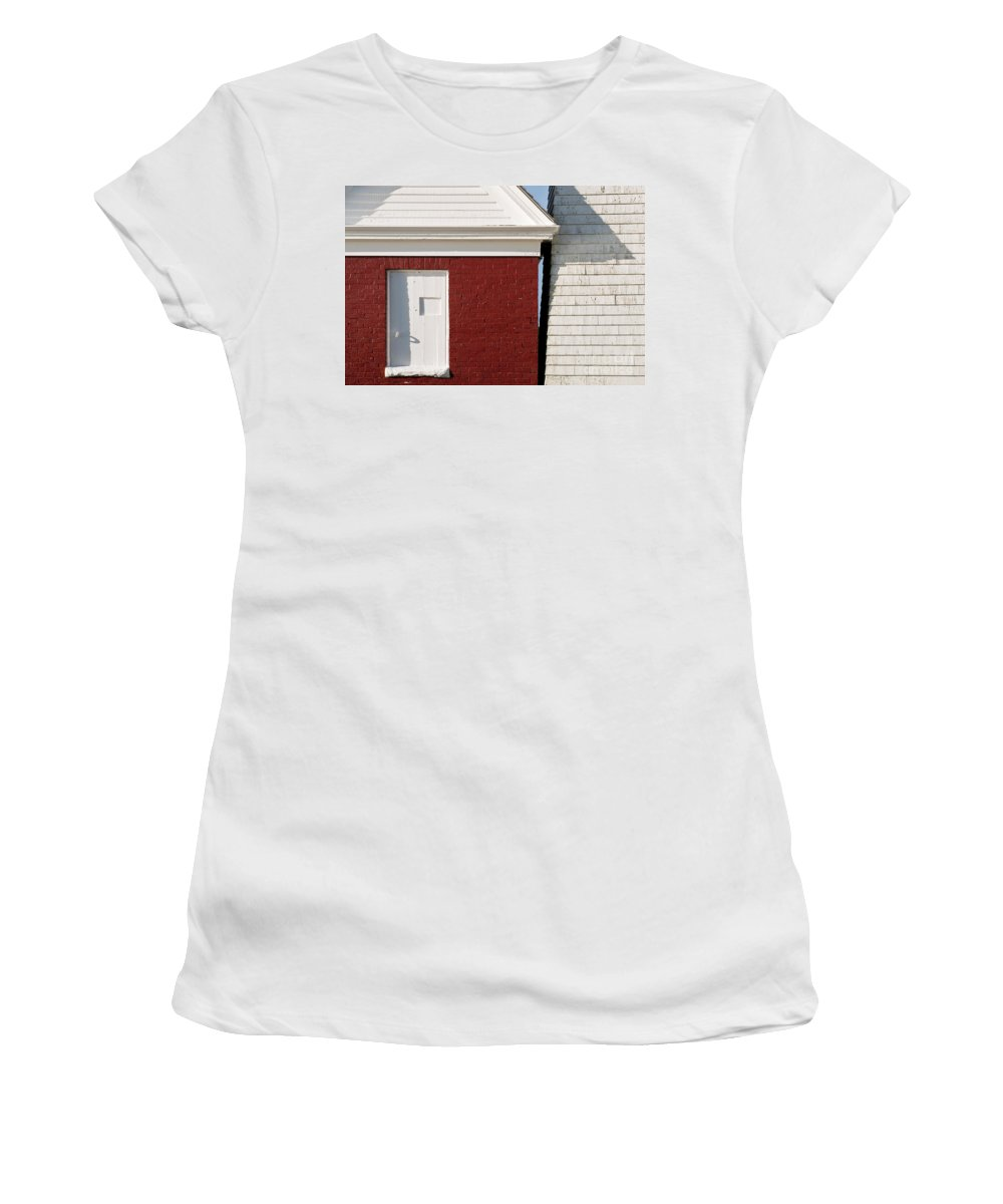Maine Women's T-Shirt featuring the photograph Pemaquid Point Bell House by John Greim