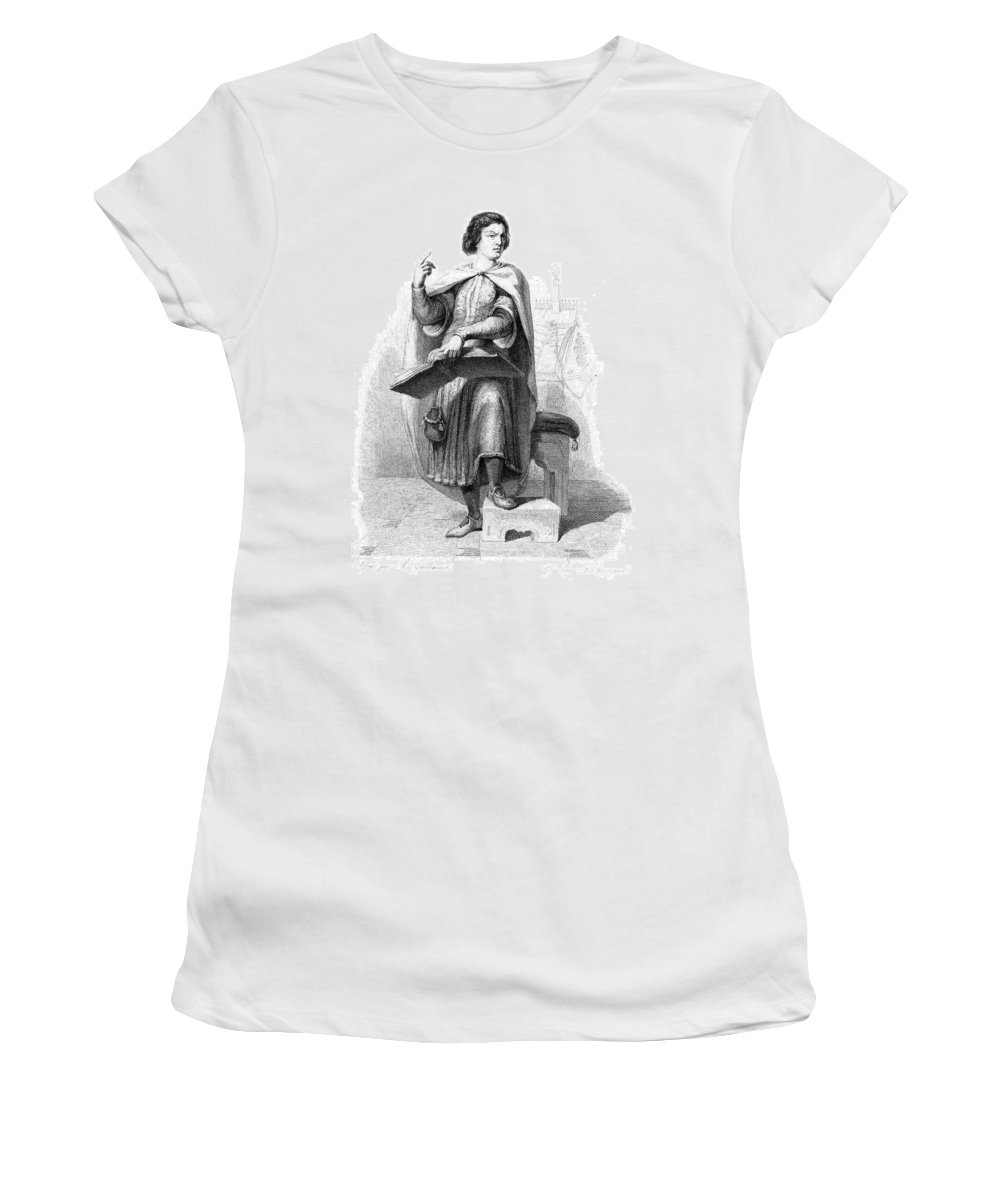 12th Century Women's T-Shirt (Athletic Fit) featuring the painting Peter Abelard (1079-1142) by Granger