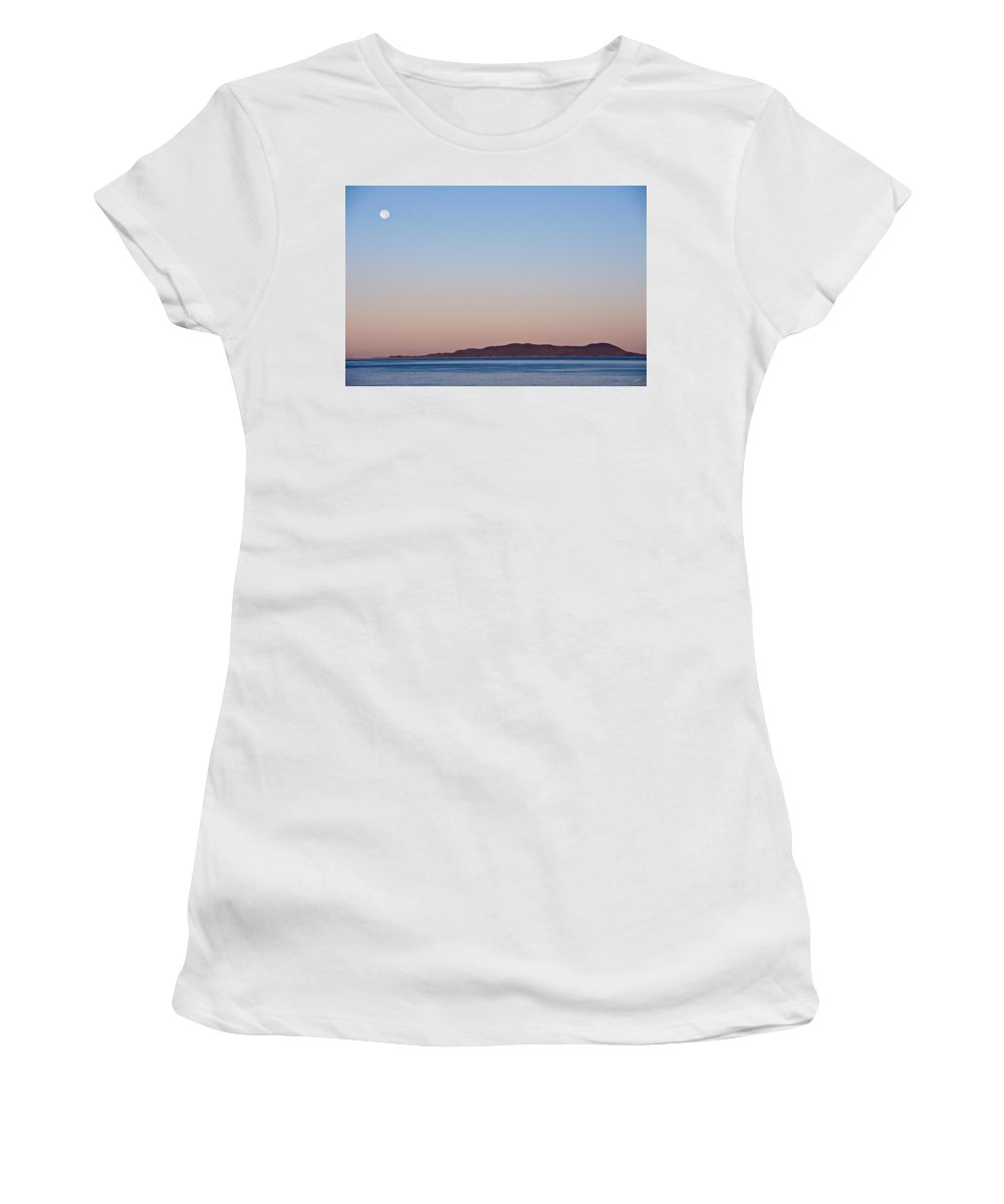 Pic Island Women's T-Shirt (Athletic Fit) featuring the photograph Pic Moon by Doug Gibbons