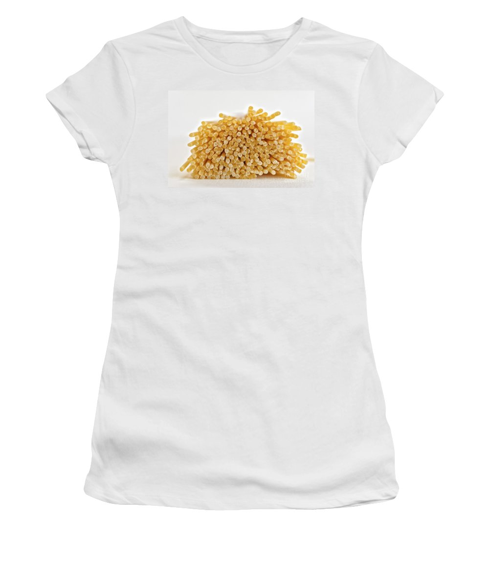 Food Women's T-Shirt (Athletic Fit) featuring the photograph Pile Of Pasta by Julian Eales