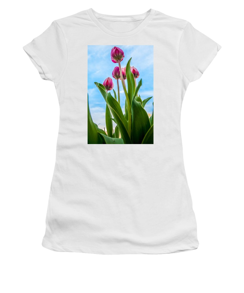 Gigimarie Women's T-Shirt featuring the photograph Pink Petals by Gina Herbert