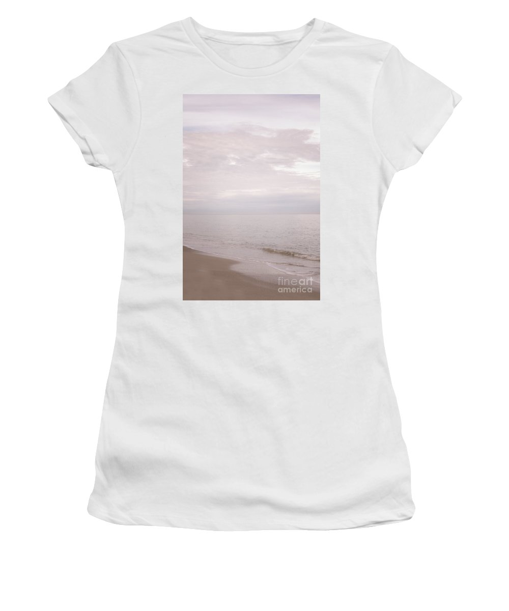 Alone Women's T-Shirt (Athletic Fit) featuring the photograph Pink Serenity by Margie Hurwich