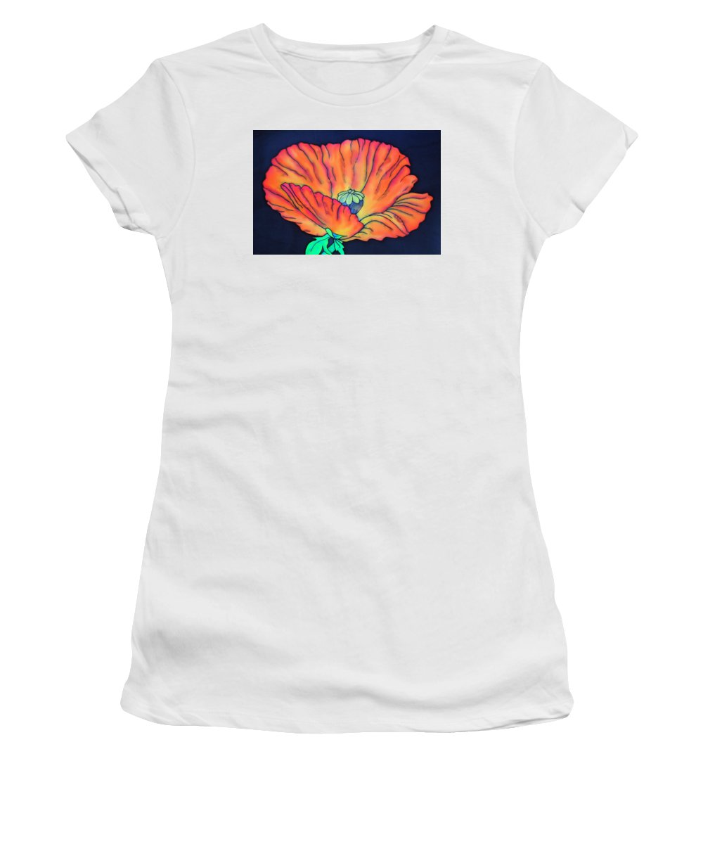 Poppy Women's T-Shirt featuring the painting Poppy I by Ursula Schroter