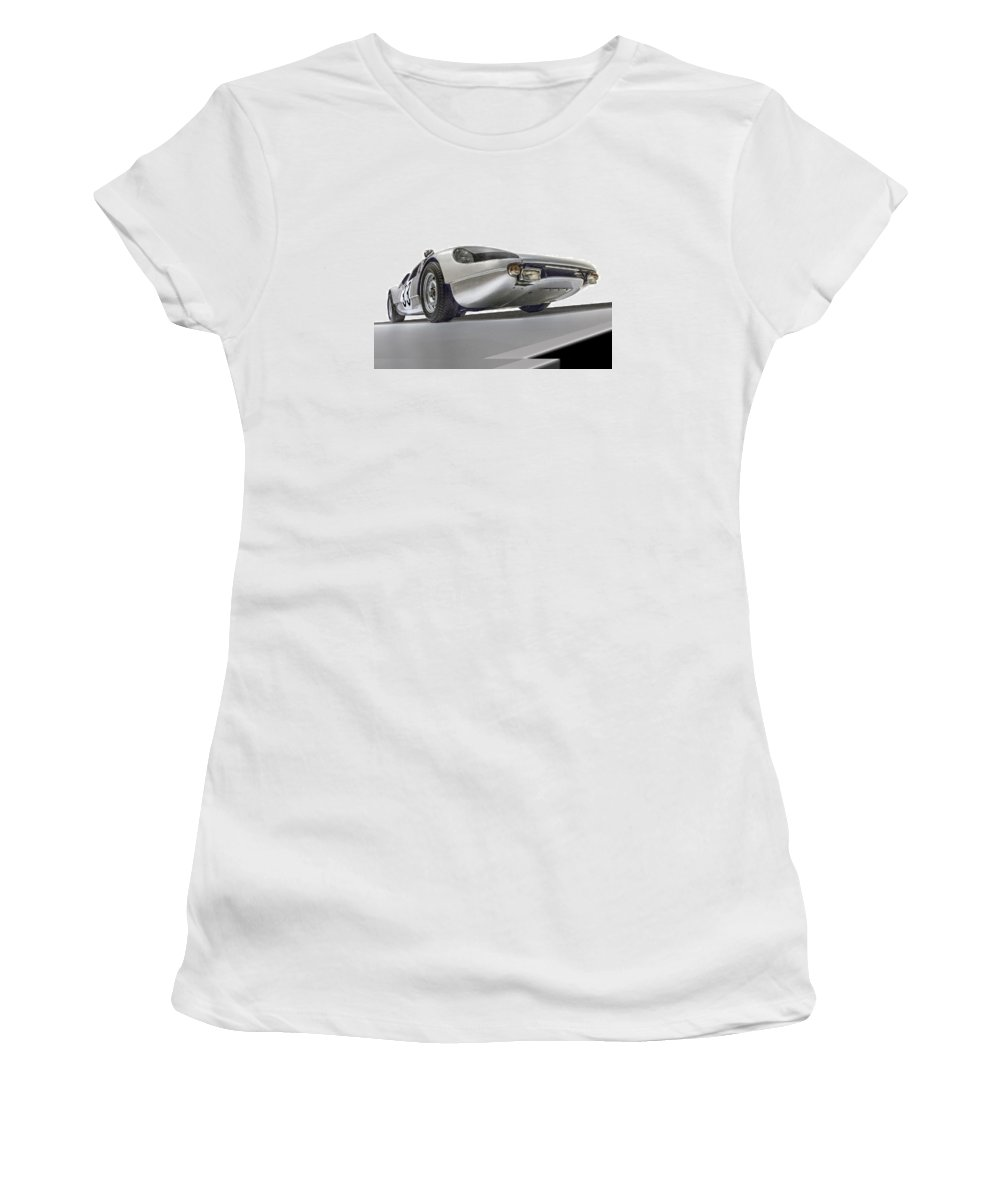 Porsche 904-6 Women's T-Shirt (Athletic Fit) featuring the photograph Porsche Nine O Four Low Angle by Gary Warnimont