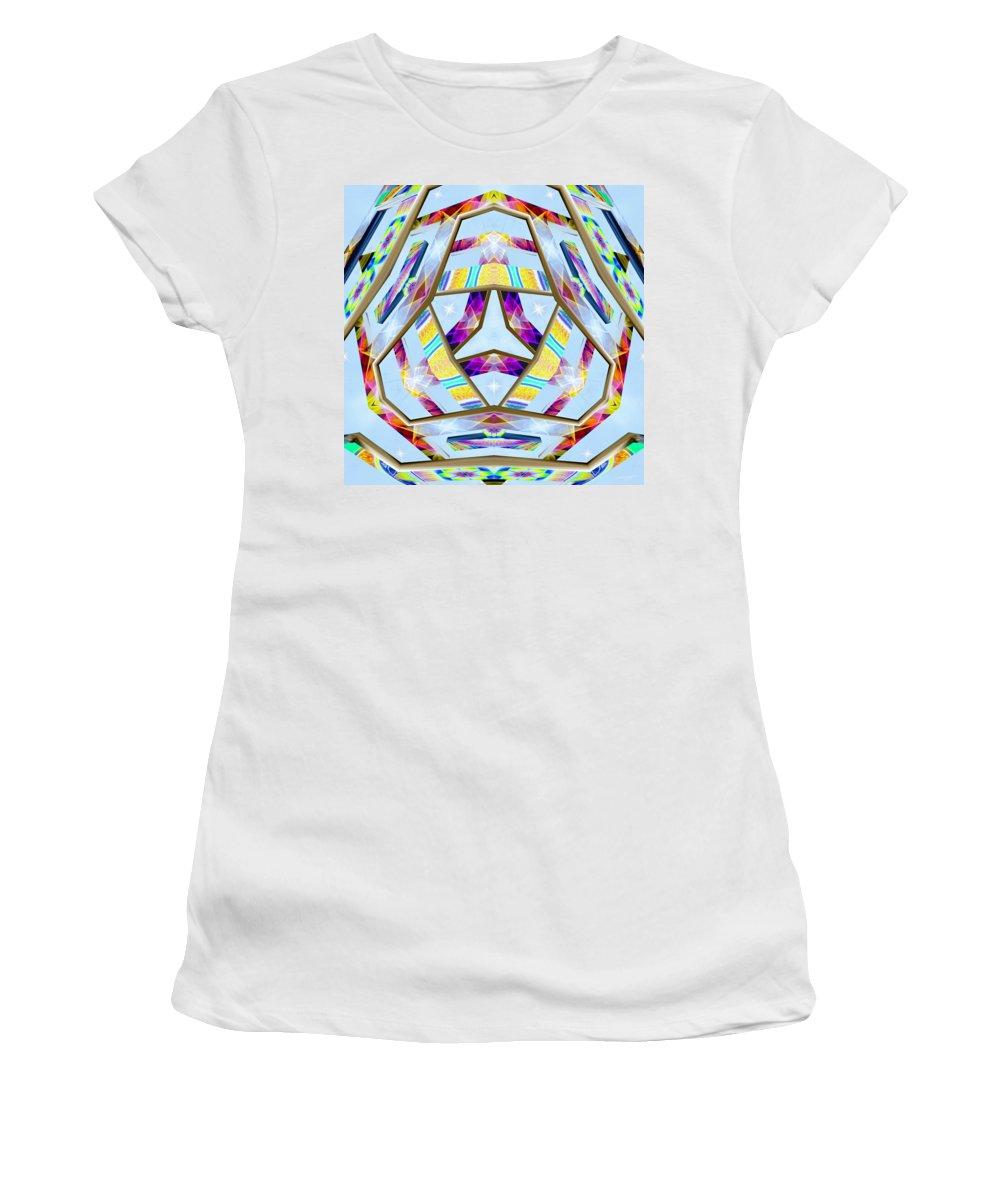 Sacredlife Mandalas Women's T-Shirt featuring the digital art Praecipua Metallah by Derek Gedney