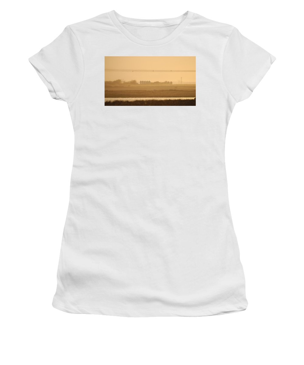 Agriculture Women's T-Shirt (Athletic Fit) featuring the photograph Prairie Lake by Brandon Smith