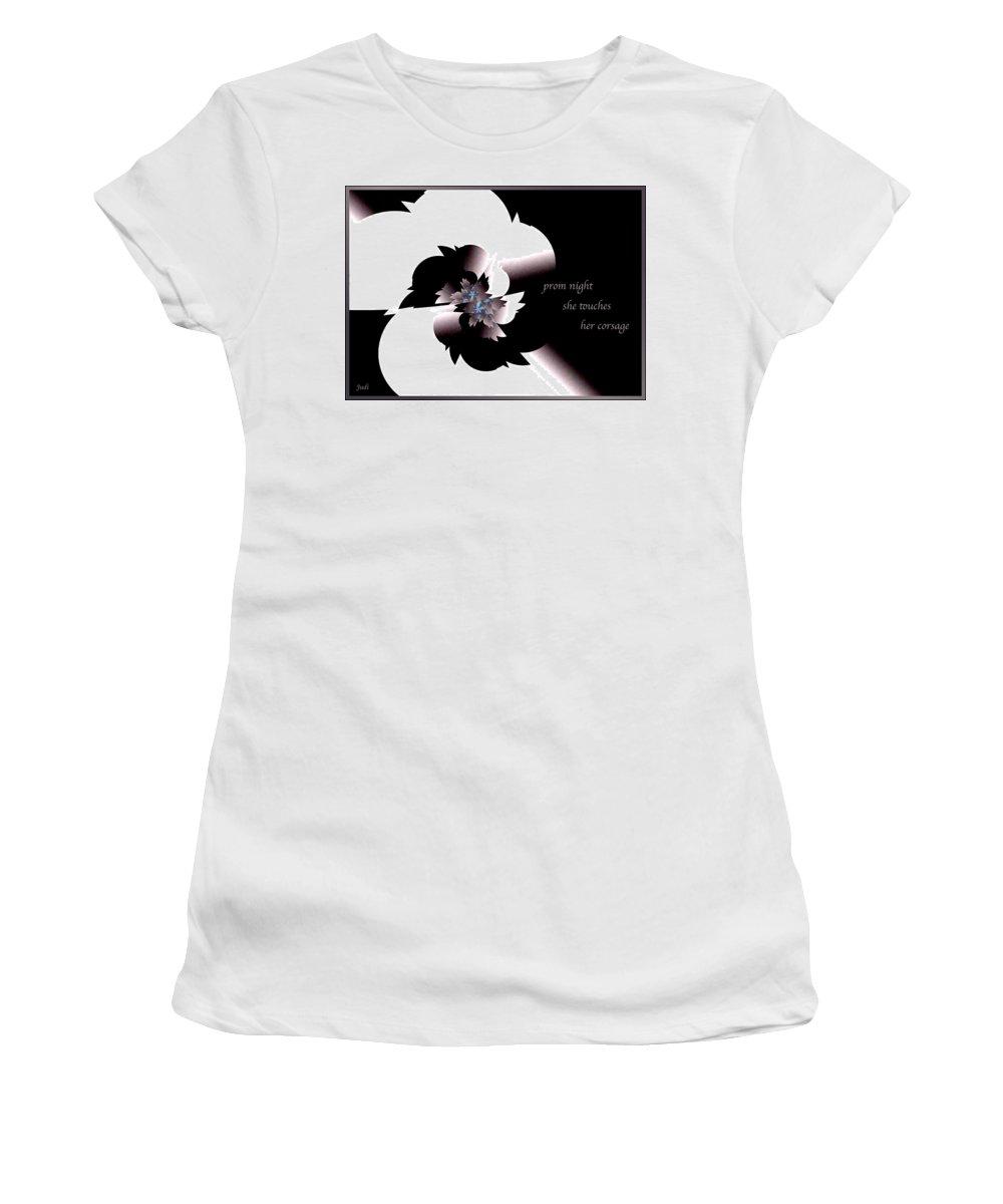 Poetry Women's T-Shirt featuring the digital art Prom Night Haiga by Judi Suni Hall