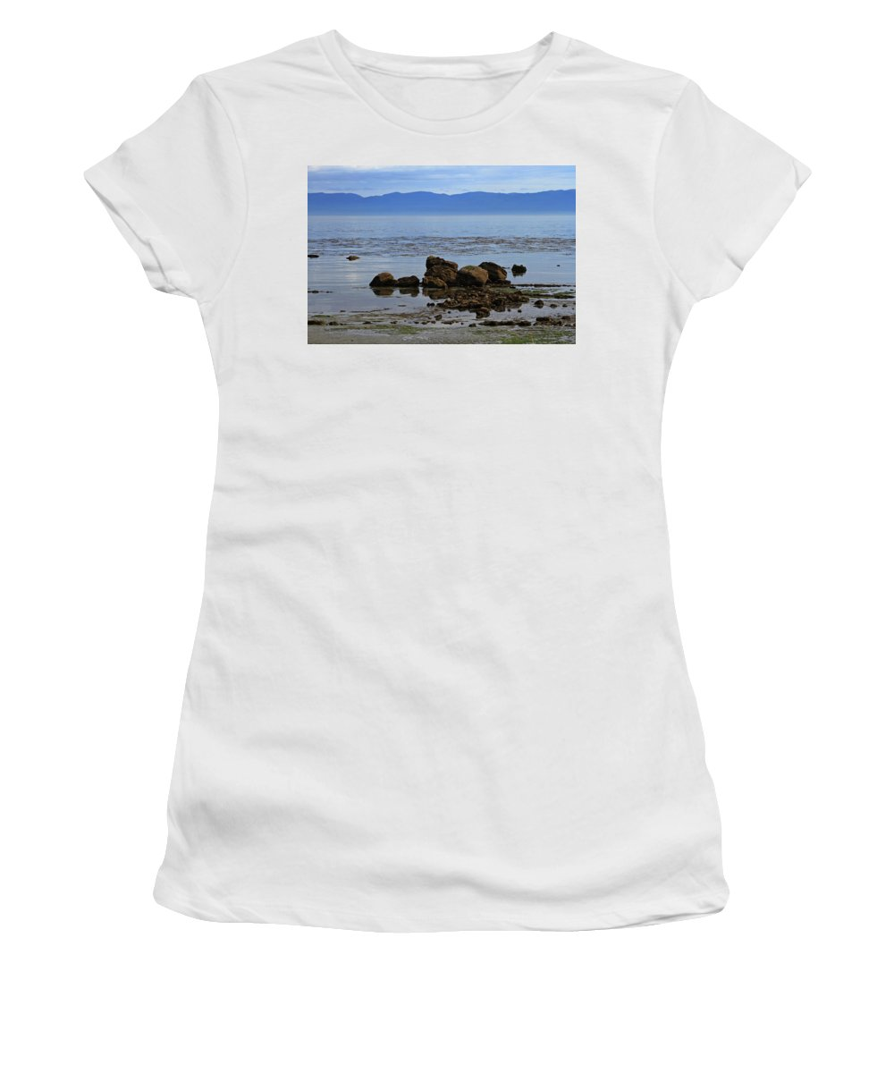 Puget Sound Women's T-Shirt (Athletic Fit) featuring the digital art Pugett Sound by Tom Janca