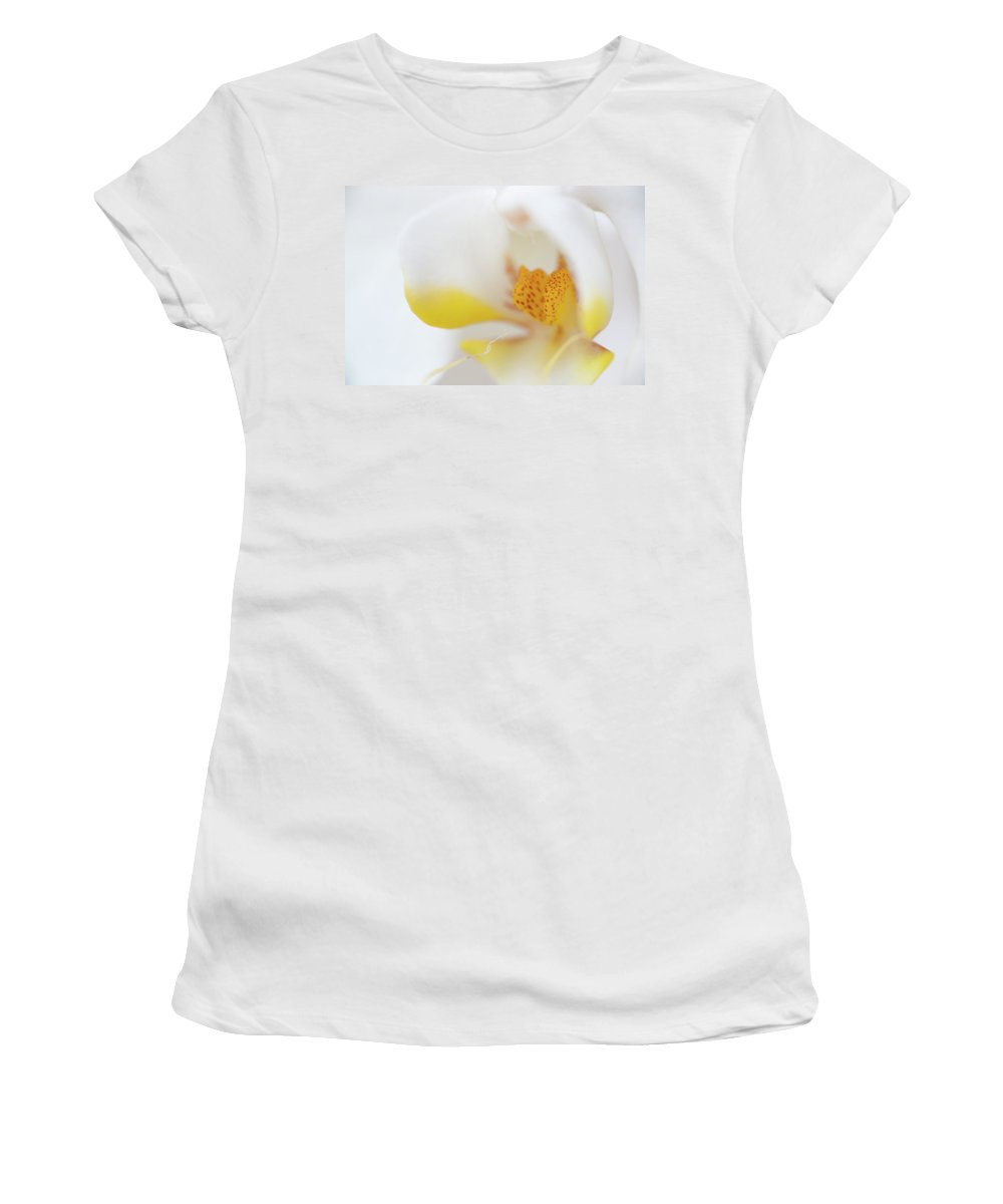 Flower Women's T-Shirt (Athletic Fit) featuring the photograph Pure White by Sebastian Musial