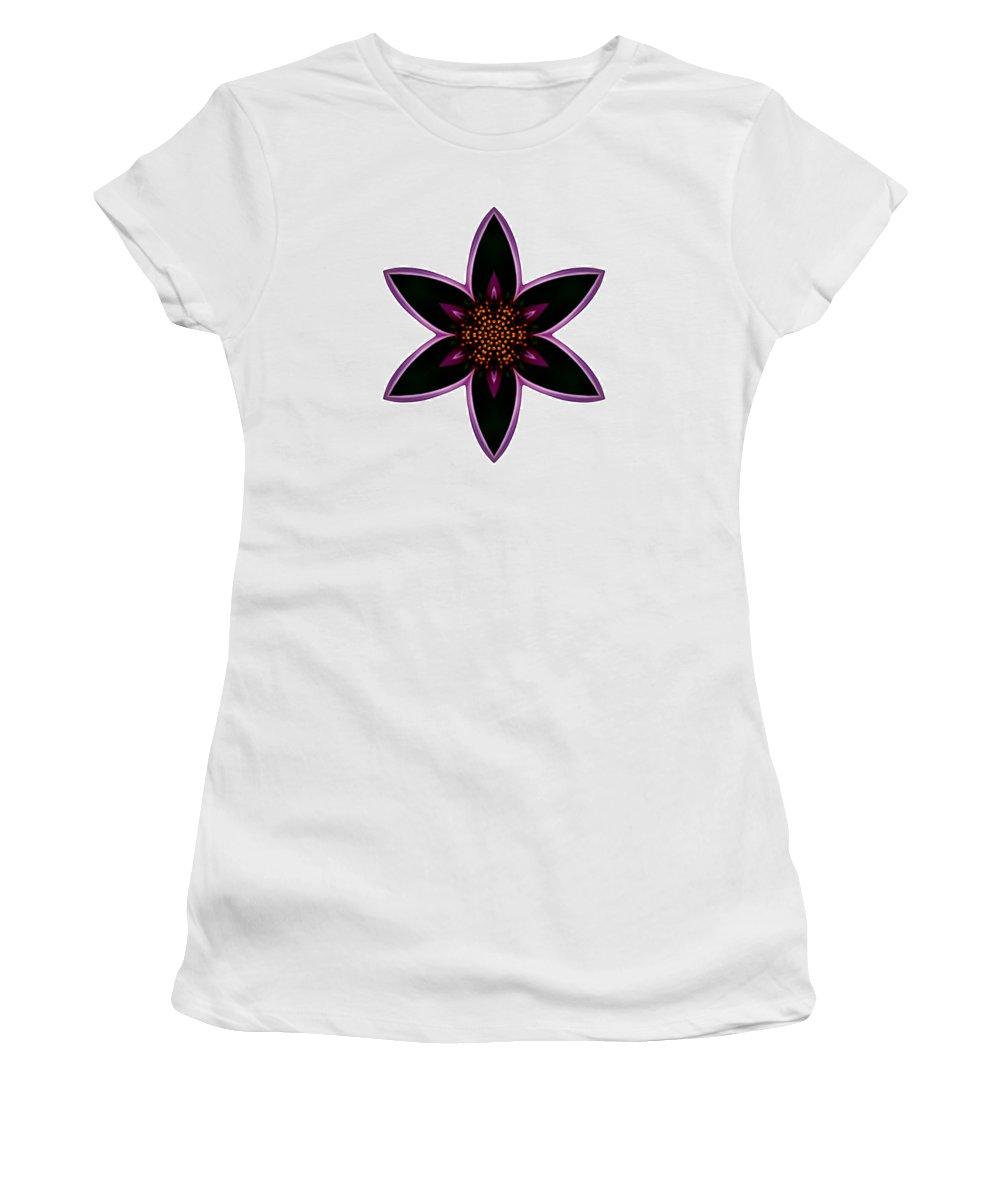Flower Women's T-Shirt featuring the photograph Purple Echinacea I Flower Mandala White by David J Bookbinder
