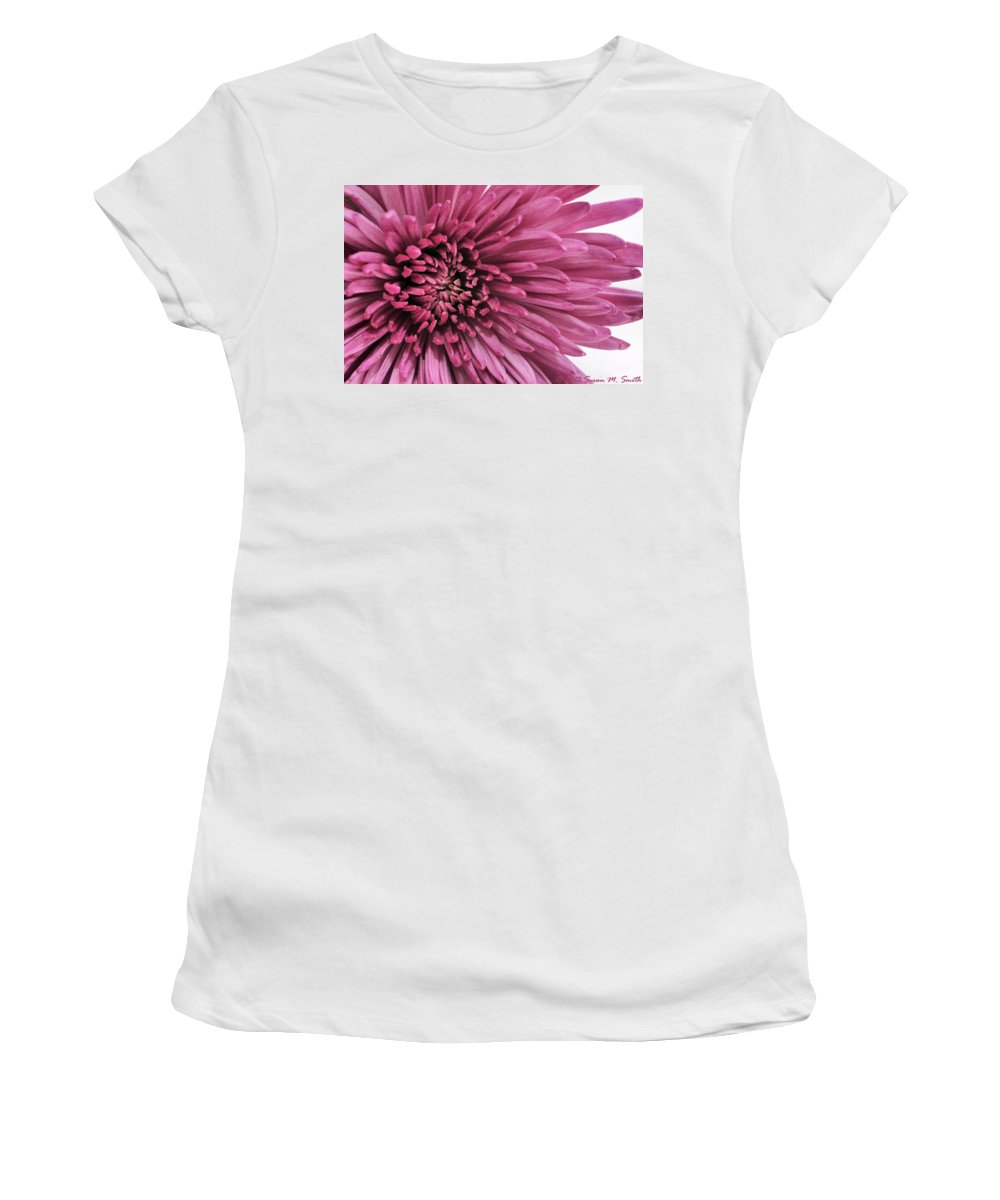 Photography Women's T-Shirt (Athletic Fit) featuring the photograph Purple Pow by Susan Smith