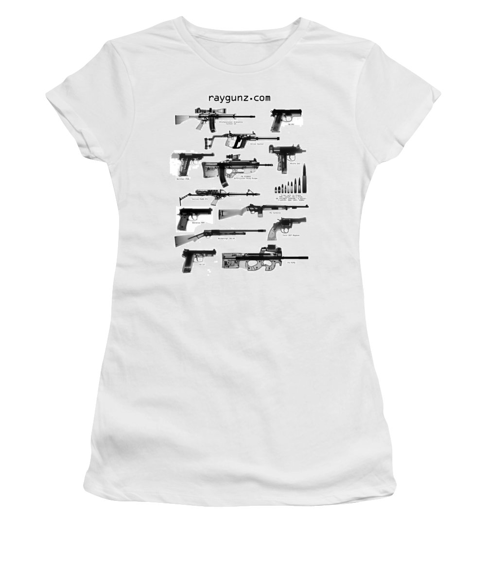 Gun Collectible Women's T-Shirt (Athletic Fit) featuring the photograph Raygunz Poster by Ray Gunz