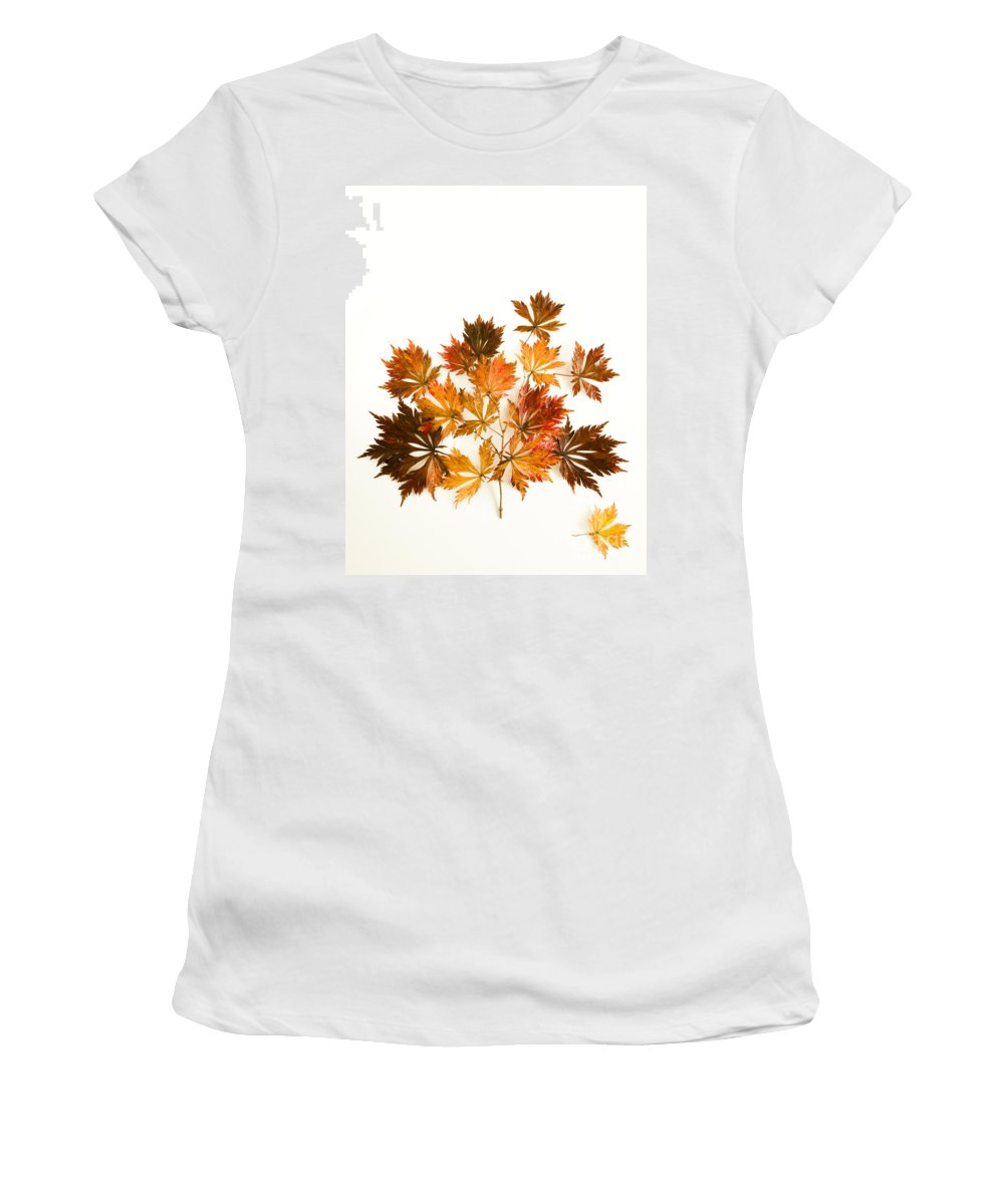 Acer Women's T-Shirt (Athletic Fit) featuring the photograph Reconstructed Full Moon Maple by Anne Gilbert
