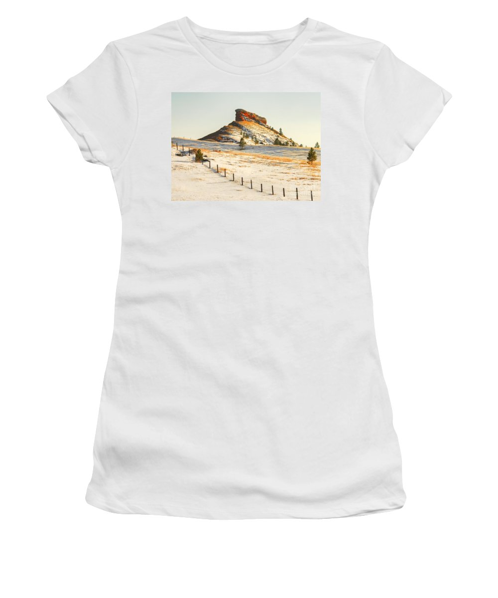 Wyoming Women's T-Shirt (Athletic Fit) featuring the photograph Red Butte by Anthony Wilkening