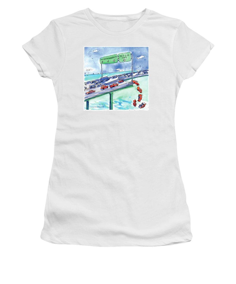 Highway Drawings Women's T-Shirts