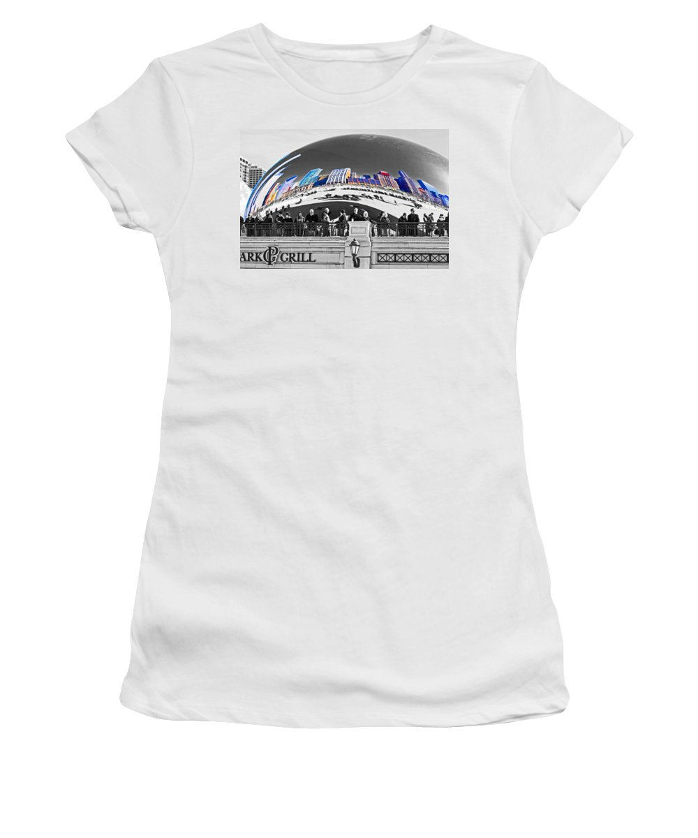 Bean Women's T-Shirt (Athletic Fit) featuring the photograph Reflection Of Colorful World by Rick Selin