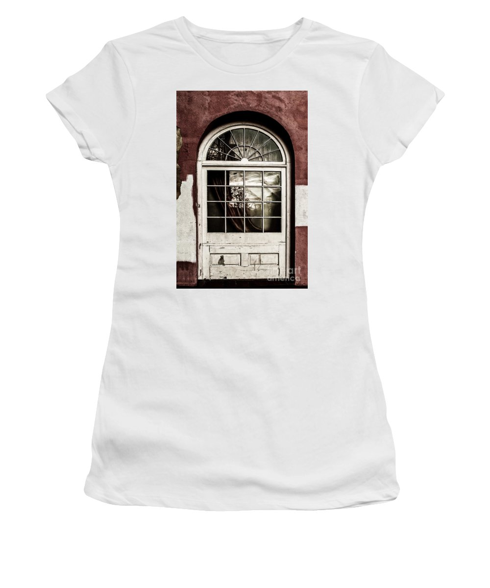 Photography Women's T-Shirt (Athletic Fit) featuring the photograph Reflections Of Yesteryear by Frances Hattier