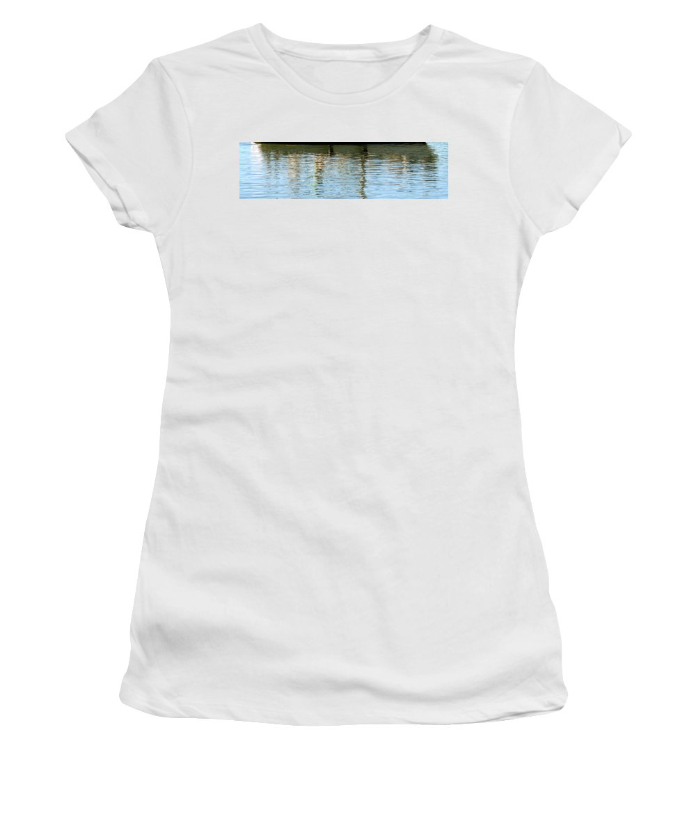 Sailboat Women's T-Shirt featuring the photograph Reflective by Mark Moore