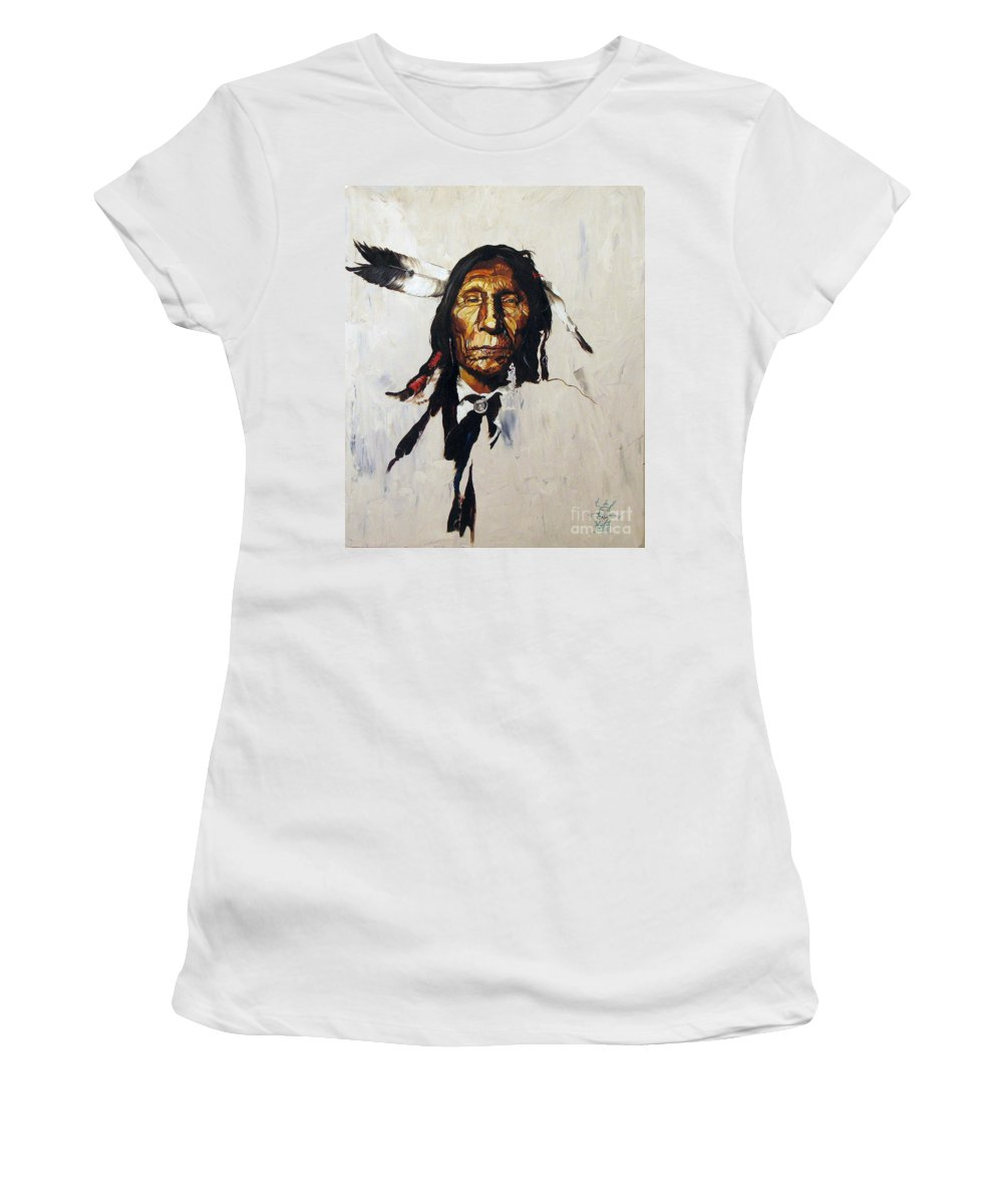 Southwest Art Women's T-Shirt featuring the painting Remember by J W Baker