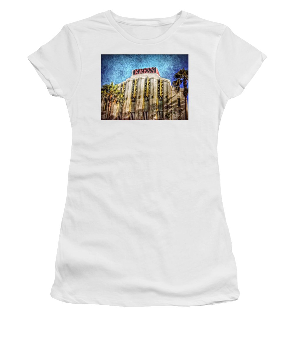Los Angeles Women's T-Shirt featuring the photograph Retro Kress by Mark David Gerson