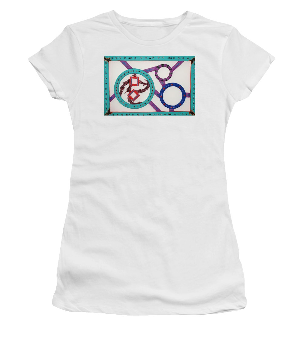 Nature Women's T-Shirt featuring the sculpture Ring Of Fire by Robert Margetts