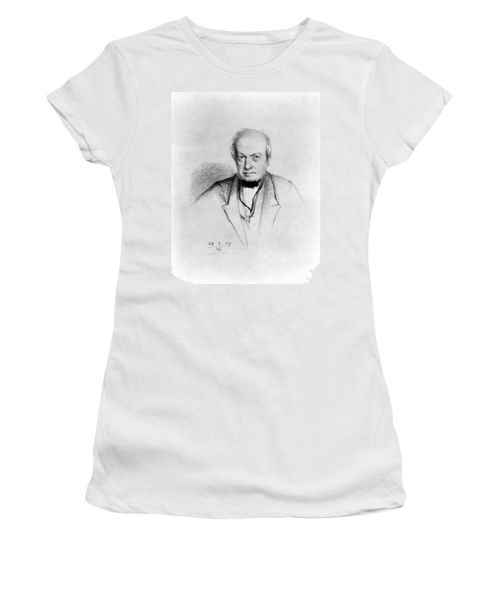1849 Women's T-Shirt featuring the drawing Robert Brown by Granger