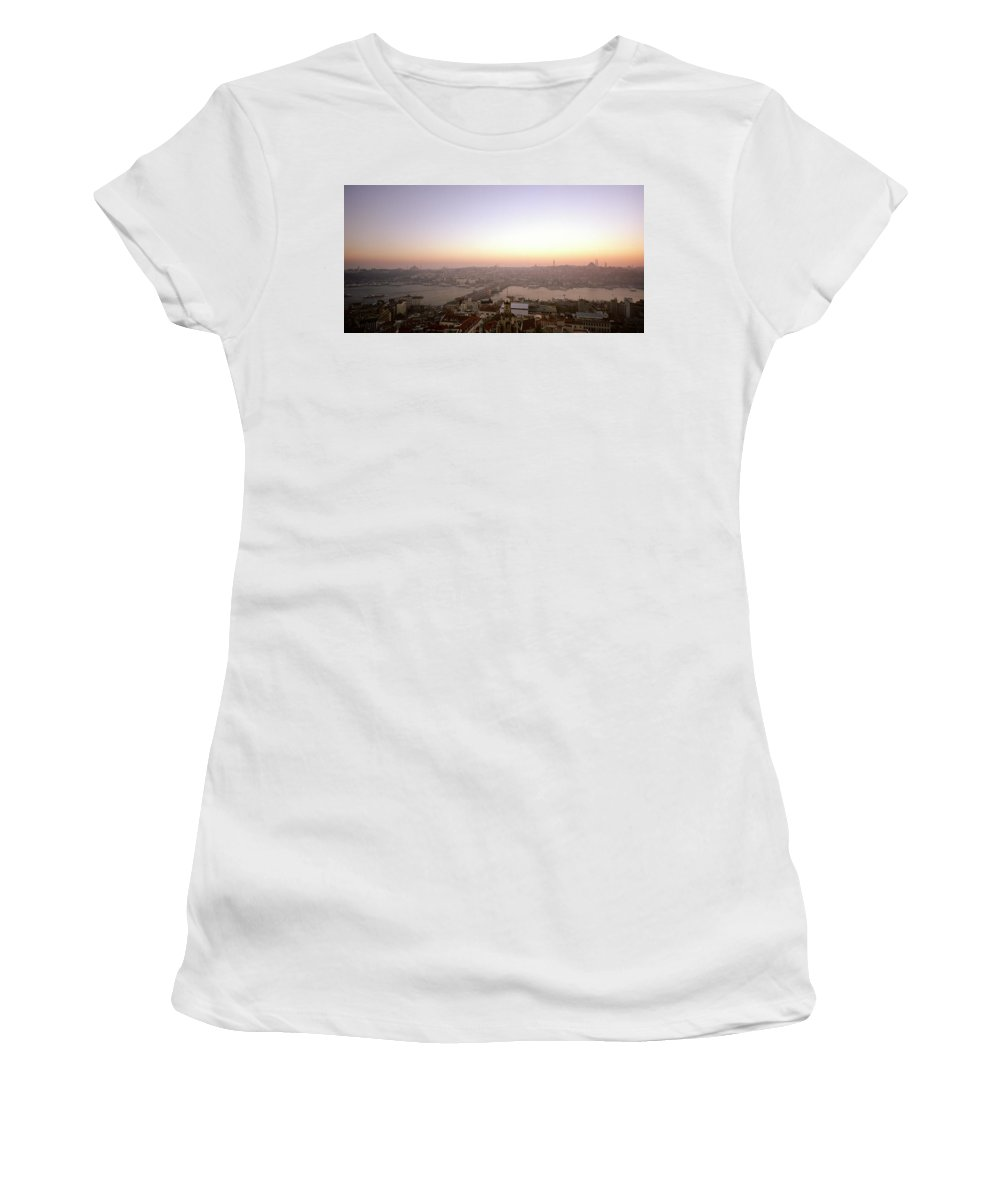 Istanbul Women's T-Shirt featuring the photograph Romantic Istanbul by Shaun Higson