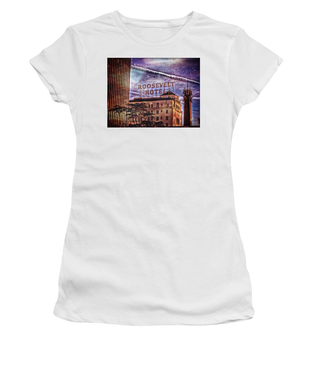 Los Angeles Women's T-Shirt featuring the photograph Roosevelt Retro by Mark David Gerson