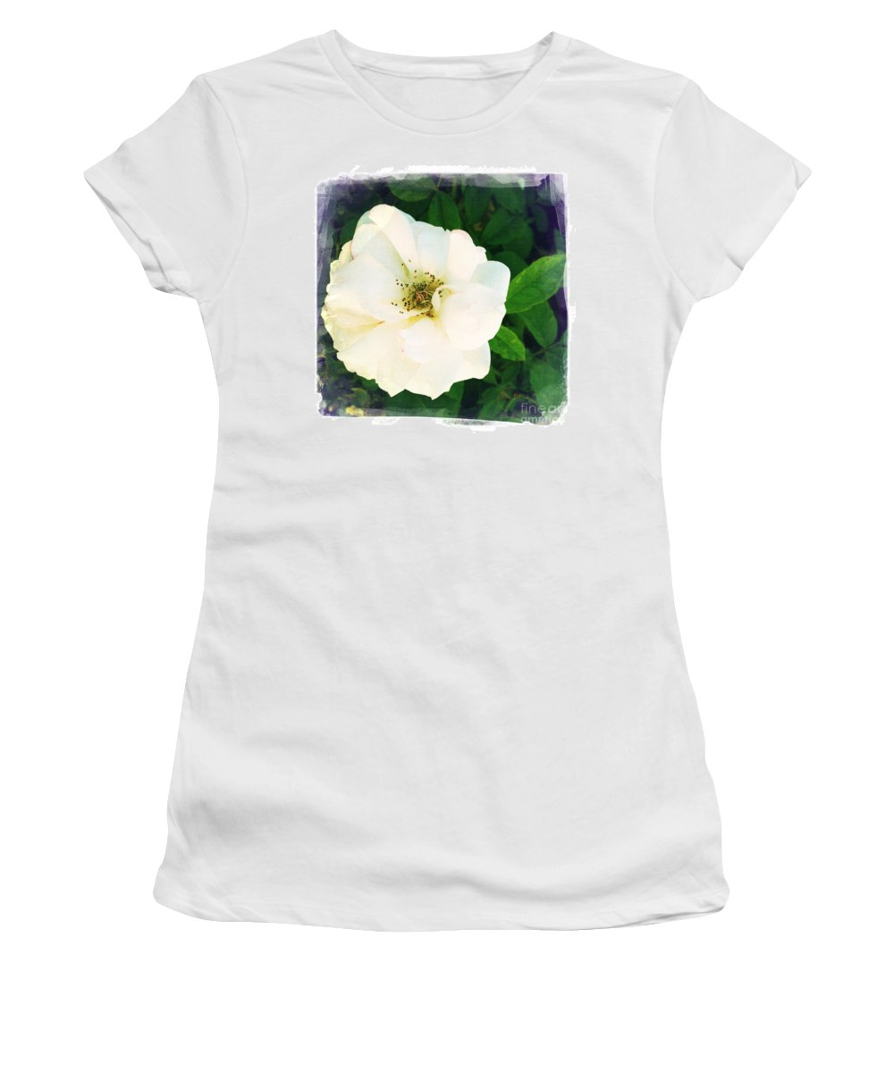 Rose Women's T-Shirt (Athletic Fit) featuring the photograph Rose by Nina Prommer
