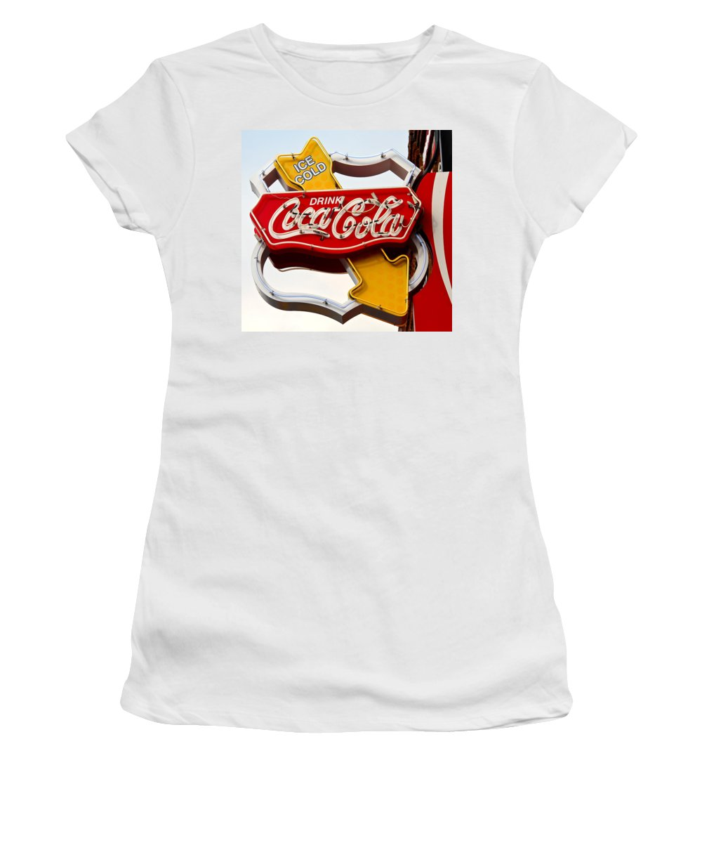 Coca Cola Women's T-Shirt featuring the photograph Route 66 Coca Cola by Denise Mazzocco