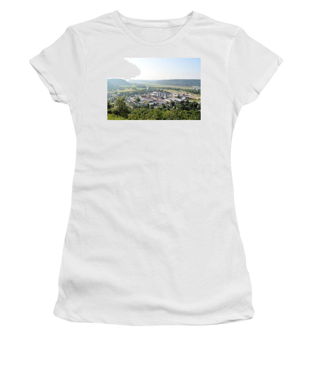 Rushford Women's T-Shirt featuring the photograph Rushford Minnesota by Bonfire Photography