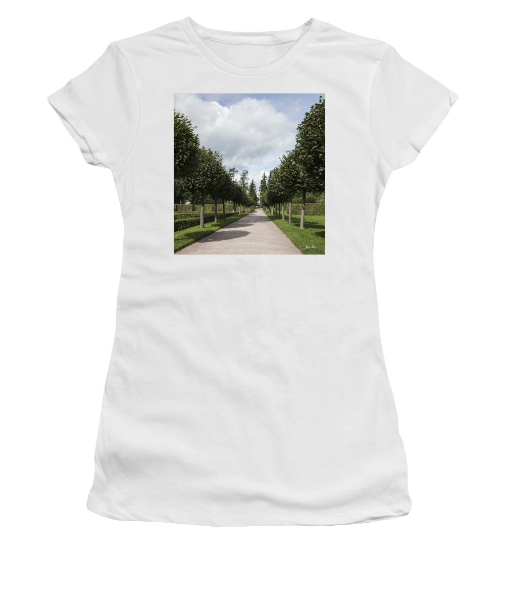 Trees Women's T-Shirt featuring the photograph Russian Garden - St. Petersburg - Russia by Madeline Ellis