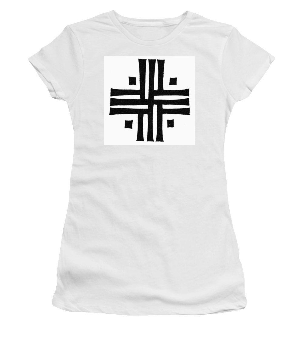 Ancient Rome Women's T-Shirt (Athletic Fit) featuring the painting Sacred Roman Cross by Granger