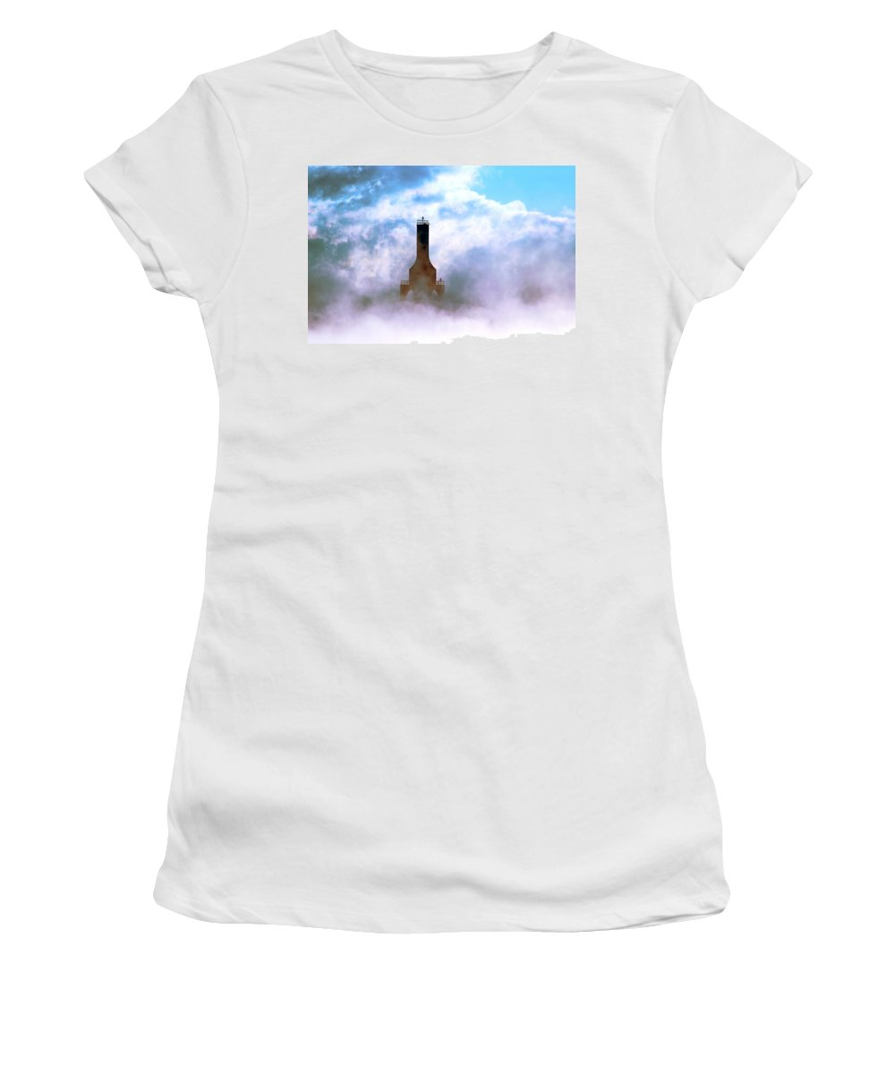 Lighthouse Women's T-Shirt (Athletic Fit) featuring the photograph Sailors Hope by James Meyer