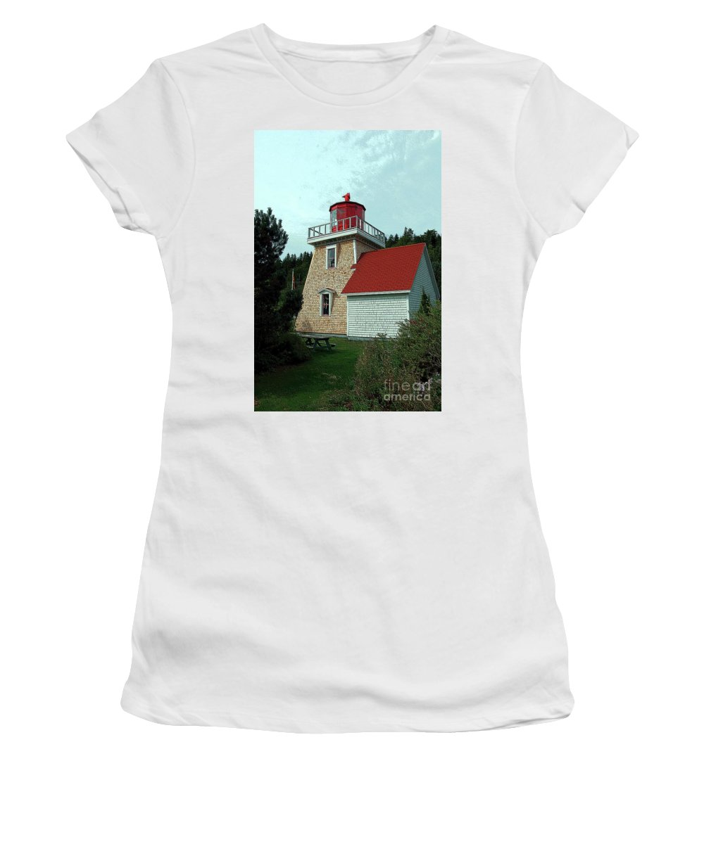 Saint Martin's Women's T-Shirt (Athletic Fit) featuring the photograph Saint Martin's Lighthouse 2 by Kathleen Struckle