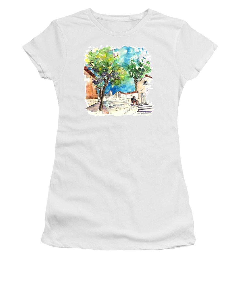 Travel Women's T-Shirt featuring the painting Sanlucar De Barrameda 01 by Miki De Goodaboom