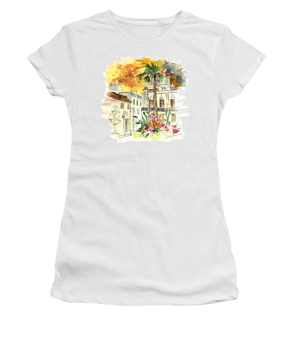 Travel Women's T-Shirt featuring the painting Sanlucar De Barrameda 02 by Miki De Goodaboom