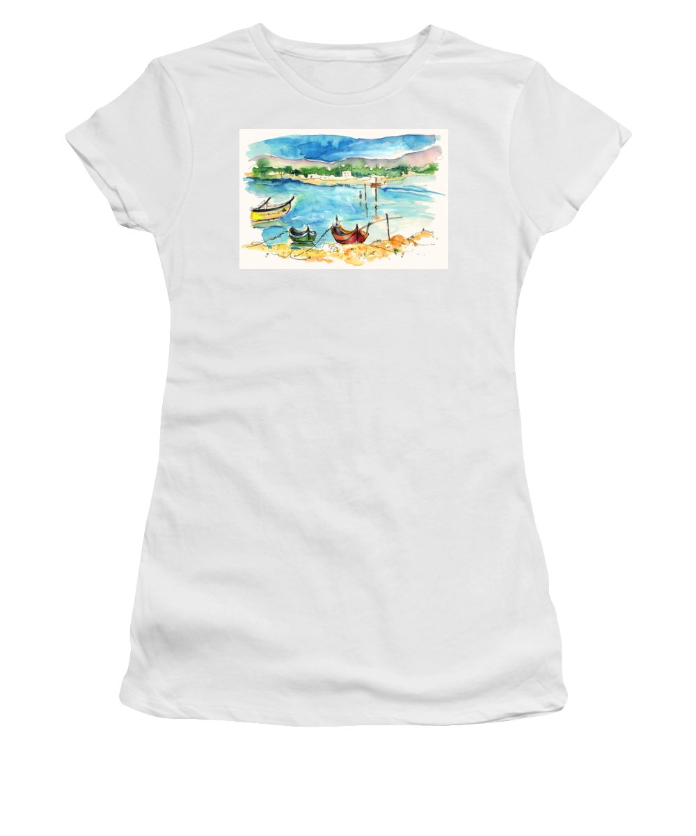 Travel Women's T-Shirt (Athletic Fit) featuring the painting Sao Jacinto 04 by Miki De Goodaboom