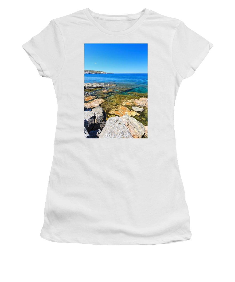 Sardinia Women's T-Shirt (Athletic Fit) featuring the photograph Sardinia - San Pietro Island by Antonio Scarpi
