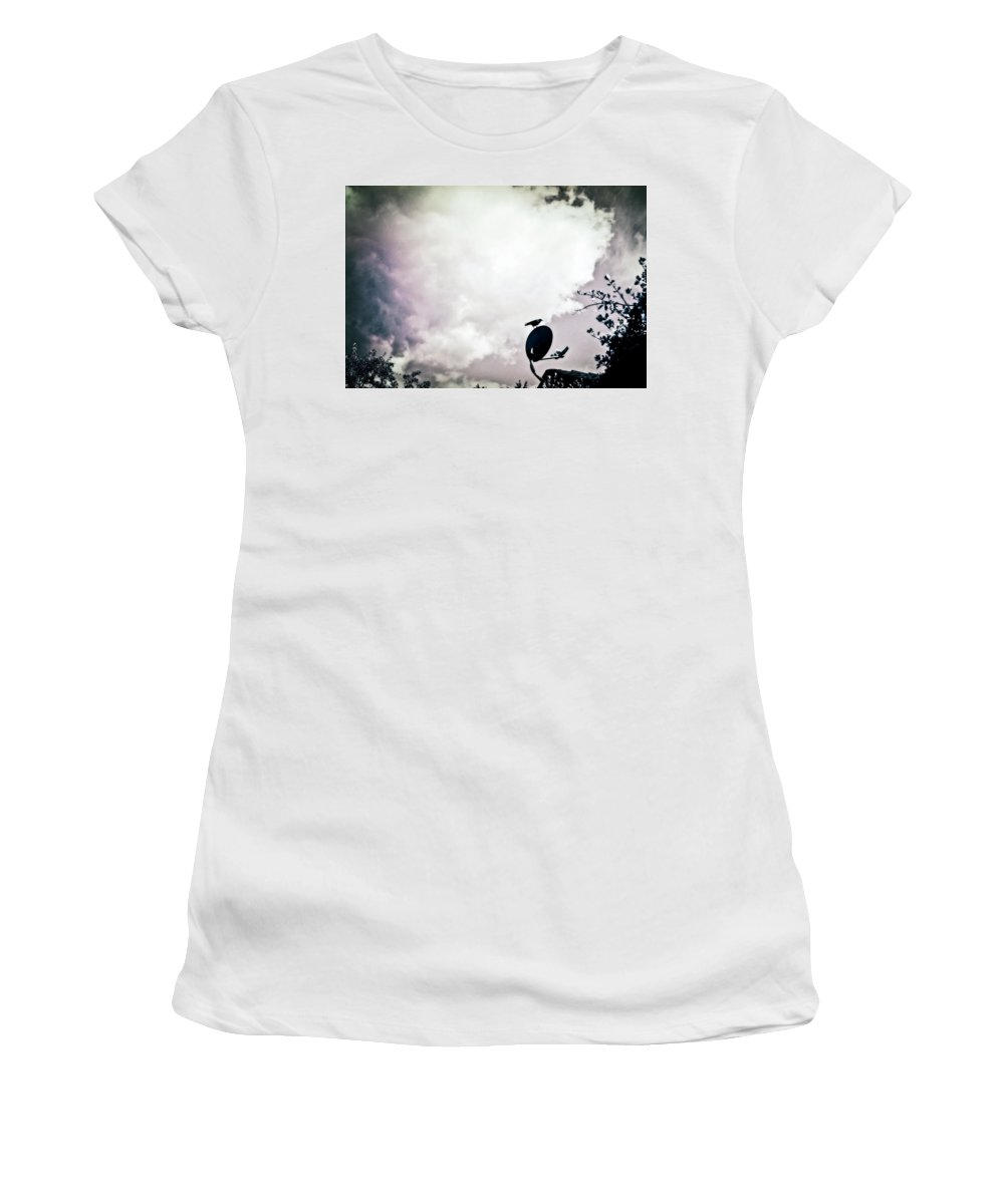 Sattellite Women's T-Shirt featuring the photograph Sattellite Lookout by Anna Burdette